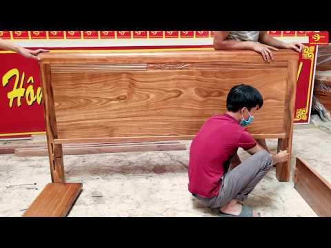 Hướng dẫn ráp giường | Giường ngủ 1m8 gỗ hương xám