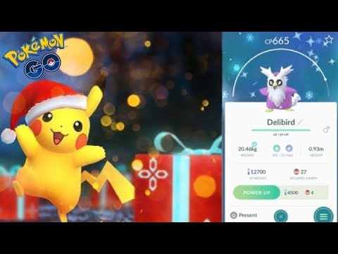 Pokemon Go Christmas Event.Shiny Delibird Coming To Pokemon Go Pokemon Go Christmas Event 2018 Idea