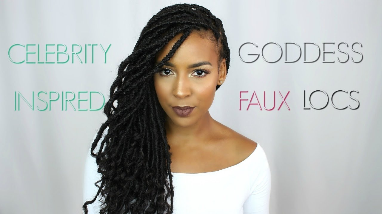 Goddess Faux Locs Tutorial Youtube