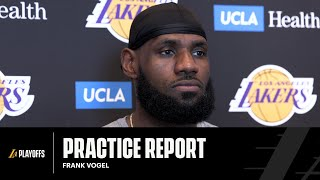 LeBron James speaks on being named All-NBA 1st Team in year 17 | Lakers Practice