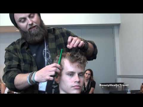 Haircut: Men's curly hair; dry cut by Chad Clark