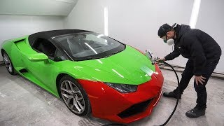 Testing the Lamborghini Paint Match and Installing a Turbine Spraying System