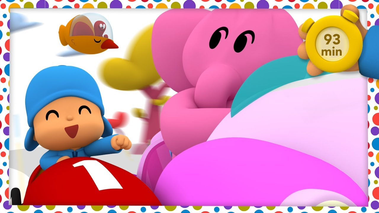 🚘 POCOYO AND NINA - The fastest car [93 min]   ANIMATED CARTOON for Children   FULL episodes