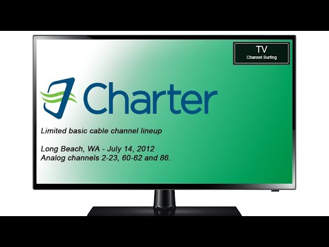 Classic TV Channel Lineup: Charter Limited Basic, Long Beach, WA (2012)