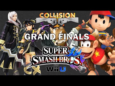 Smash Wii U Tournament Grand Finals - Nairo (Robin/Dark Pit) vs NAKAT (Fox/Diddy/Ness) - Collision X