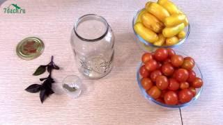 Помидоры ЧЕРРИ: рецепт заготовки с базиликом - 7 дач