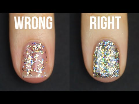 HOW TO APPLY GLITTER NAIL POLISH || KELLI MARISSA - YouTube