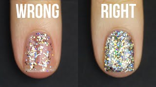 HOW TO APPLY GLITTER NAIL POLISH || KELLI MARISSA thumbnail