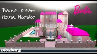 ROBLOX | Welcome to Bloxburg: Barbie Dream House Mansion Speedbuild