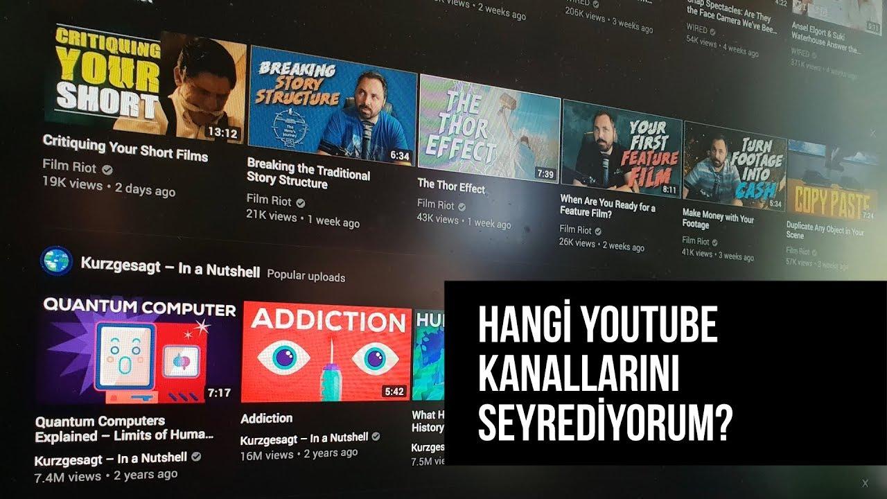 Hangi YouTube kanallarını takip ediyorum? CANLI YAYIN