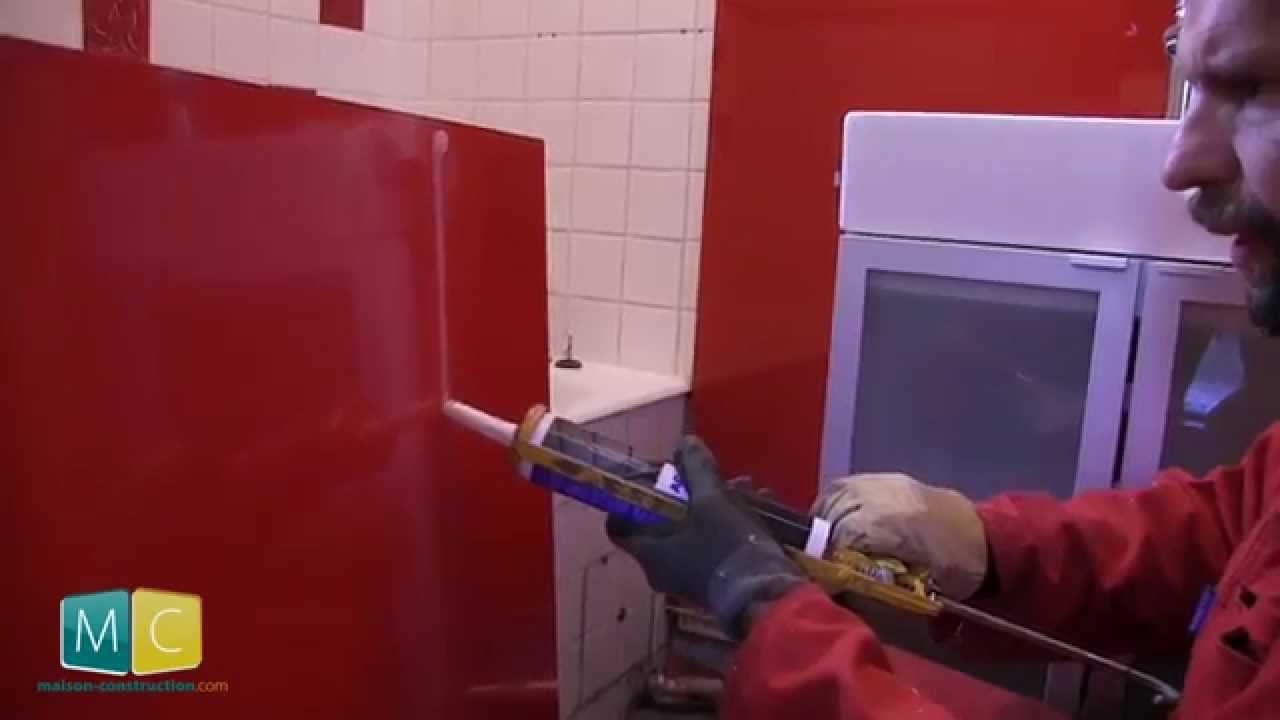 Dalle Exterieur A Coller Rénovation Salle De Bain 3/4, Pose Verre Lacobel - Youtube