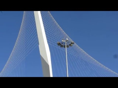 The Bridge of Strings (Jerusalem Light Rail Bridge) - a cantilever spar cable-stayed bridge, Israel.