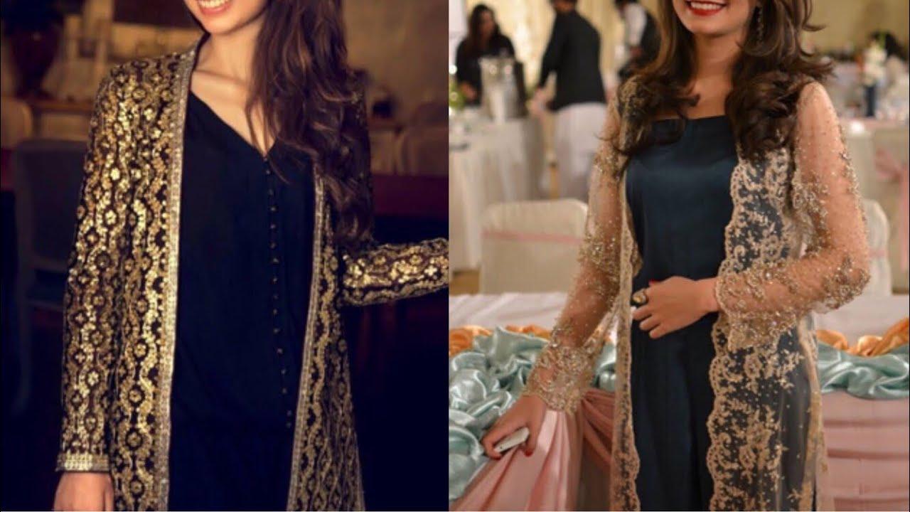 Latest Long Net Embroidered Shrug Design Ideas Pakistani Net Jackets