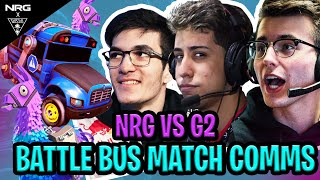 NRG and G2 Pros Use Battle Bus In Actual Rocket League Match (Comms) | Squishy, Garrett, JSTN, Sizz