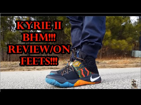 a97ca06ba4ea NIKE KYRIE 2  BHM  REVIEW AND ON FEET!!! - YouTube