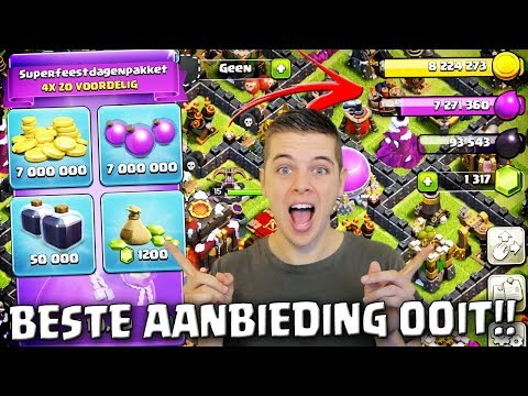 BESTE AANBIEDING DIE ER IS KOPEN!! CLASH OF CLANS NEDERLANDS