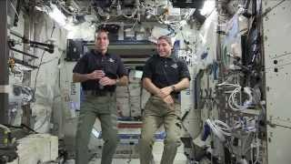 Space Station Crew Discusses Life in Space with Astronaut Candidates, Students at Smithsonian