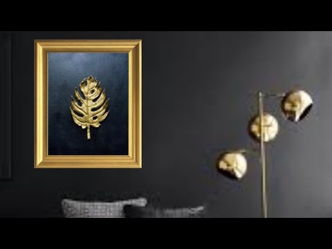 Elegant golden wall frame | Easy DIY wall decor