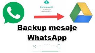 Cum se face backup online la WhatsApp
