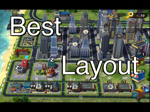 simcity buildit best city layout youtube