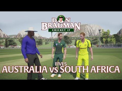 DON BRADMAN CRICKET 17   FIVE5 GAMEPLAY   AUSTRALIA VS SOUTH AFRICA
