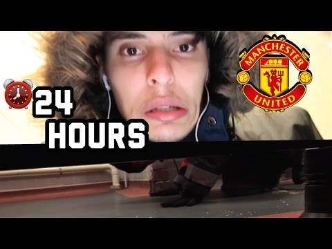 How We Got CAUGHT Sleeping Overnight In OLD TRAFFORD!