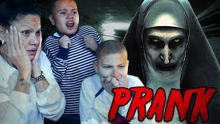 THE NUN *SCARE* PRANK ON MY FAMILY!!! (SCARIEST PRANK EVER!!!)