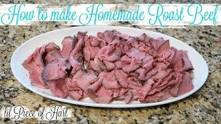 How to Make Homemade Roast Beef Lunch Meat | LOW CARB