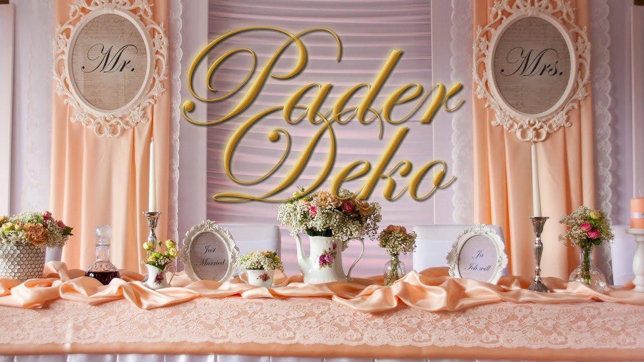 hochzeitsdeko von pader deko highlights 2016 youtube
