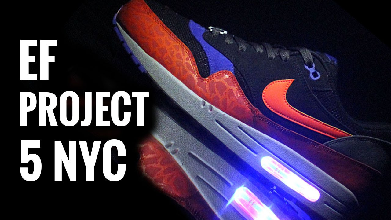 light up shoes nike air max 1 evolved footwear project 5 nyc youtube