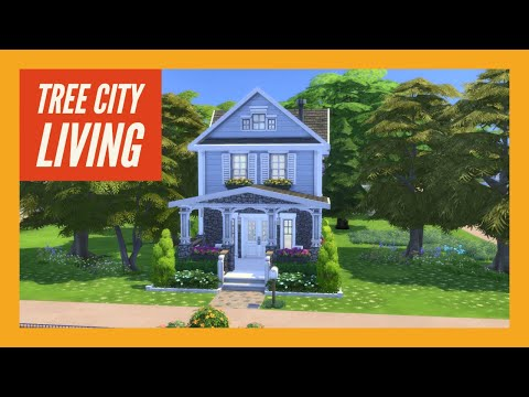 Tree City Living || 2 Bdr + 2 Bth || The Sims 4: Speed Build [NO CC] New Year New House