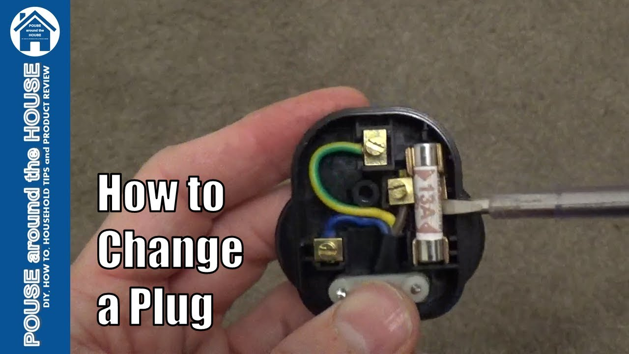 how to change a plug replace and wire a 3 pin plug tutorial  [ 1280 x 720 Pixel ]