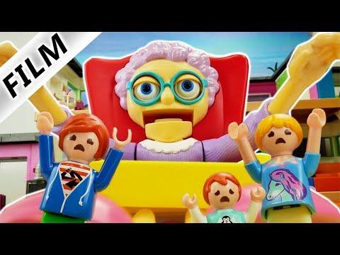 Playmobil Film Deutsch ENTKOMME VOR DER BÖSEN OMA! BABYSITTERIN STELLT FALLEN AUF! Familie Vogel
