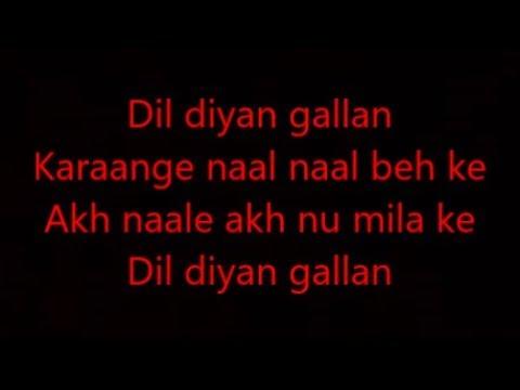 Dil diya gallan with lyrics   Dil diya gallan full song Atif aslam