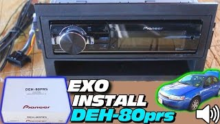 The SECRET to Installing Pioneer 80PRS Head Unit | How To Install DEH-80prs Car Audio Stereo System