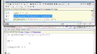 Use of Matlab 1 - solving ODEs