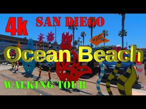 Ocean Beach San Diego Walking Tour And Longboard Surfers