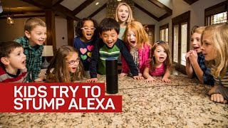Kids try to stump Alexa