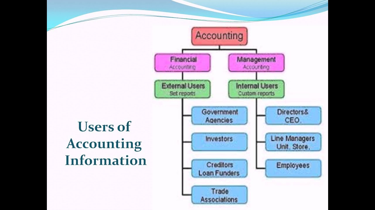 What are external users of accounting information?