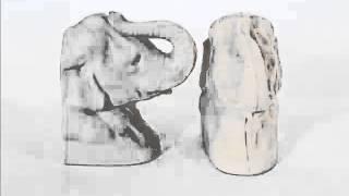Ceramic Elephant Head | Picture Set Beautiful Decorative Handwork