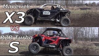 Rzr Turbo S Vs Maverick X3 Xrs! Cornering And Drag Racing!