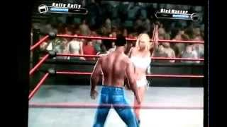 SvR 2008 GamePlay Kelly Kelly vs. RickMaster5000