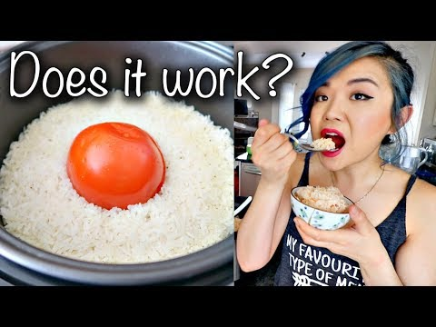 Tomato in a Rice Cooker Hack... EASY but DOES IT WORK?! #vegan
