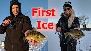Sketchy Early Ice Fishing for Panfish ft Nicole Stone Outdoors