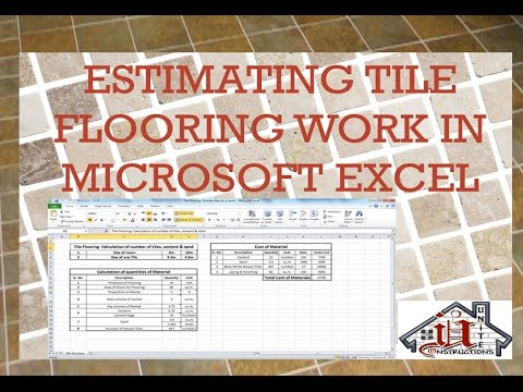 Tile Flooring-Estimating Number of Tiles for a Room, Cement & Sand ...