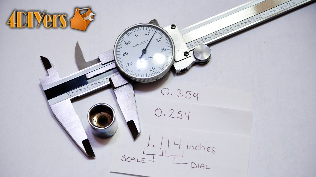 DIY: Reading a Dial Vernier Caliper (Imperial) - YouTube