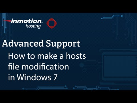 How to Modify Your hosts File Using Windows | InMotion