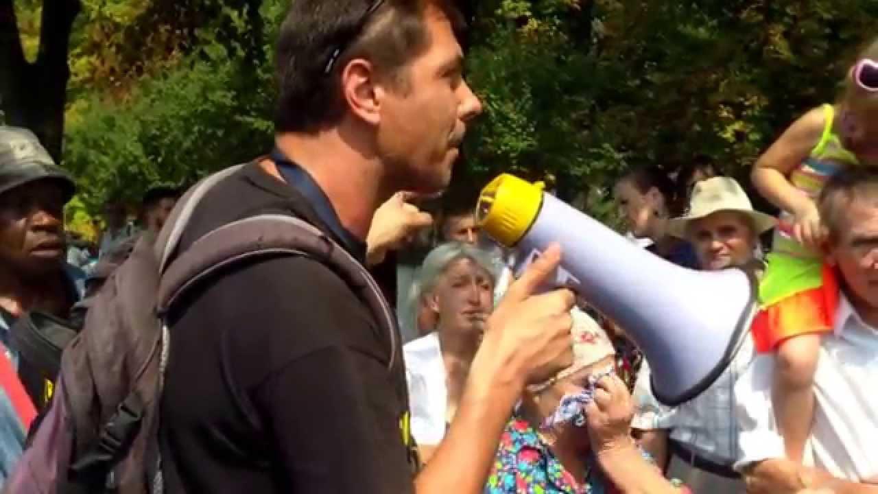 Protest cu altercații în Piața marii Adunări Naționale