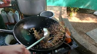 "Street Food in India  - 'Chicken Fried Rice' - ""インド チャーハン"""