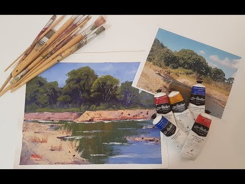 "Learn To Paint TV E26 ""Mary River Reflections"" Acrylic Painting Beginners Step By Step"